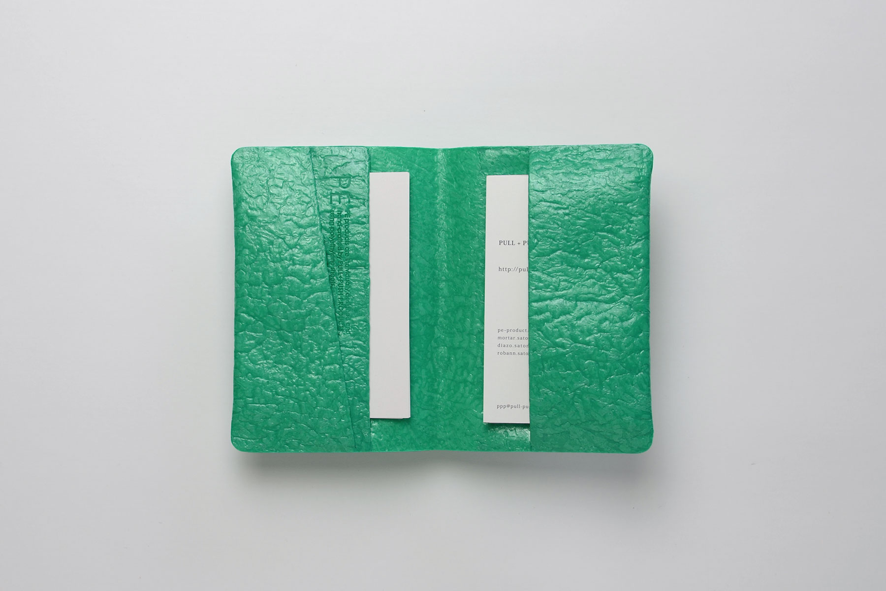 PE CARD CASE_EMERALD GRE