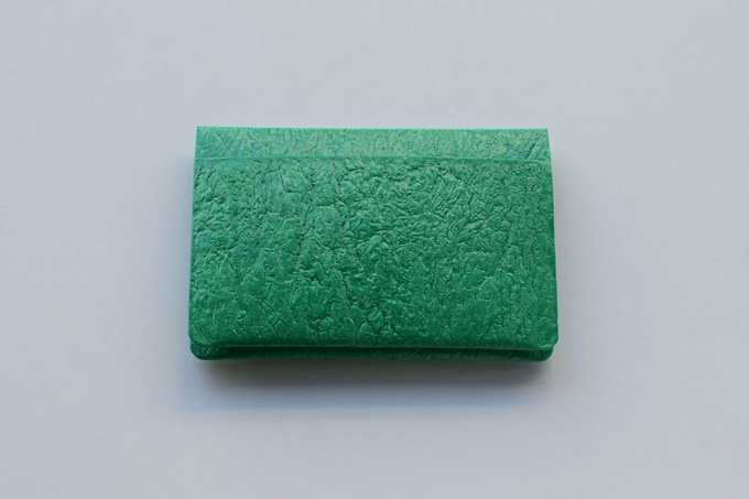 PE CARD CASE / Emerald green