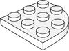 プレート3×3コーナー丸(#30357)・プレート3×3コーナー無(#2450)