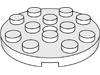 プレート4×4丸ペグ穴有(#60474)