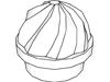 プレート1×1丸渦巻き(#15470)