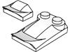 曲面スロープ1×2×2/3フィン付(#47458)・曲面スロープ3×2×2/3フィン付(#47456)