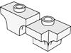 アーチ1×2中央1スタッド(#38583)・アーチ2×2コーナー(#38585)
