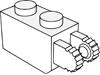 ヒンジブリック1×2ロック(端に指2本)