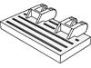 ヒンジトレインゲート2×4ロック(#92092)