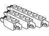 ヒンジブリック1×2ロック・1×4ロック・1×6ロック(端に指1本・指2本)