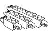 ヒンジブリック1×2ロック・1×4ロック・1×6ロック端に指1本・指2本