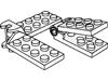 ヒンジプレート2×4関節ジョイント(#3640c01)・2×4上部(#98286)・2×4下部(#98285)