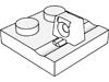ヒンジプレート2×2ロック上部に指1本(#92582)
