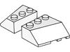 ウェッジ3×3右スロープ(#48165)・ウェッジ3×3左スロープ(#42862)