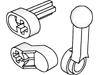 テクニックエンジンクランクシャフト(#2853)・コネクターロッド(#2852)