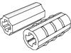 テクニック車軸コネクター(強固/スムース・X軸穴有)