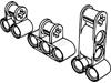 テクニック垂直コネクター(車軸穴有・ペグ穴2つ)・垂直コネクターロング(ペグ穴2つ)