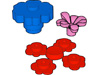 花びら(#3742c01)・花2×2(#98262)・花びら7枚(#32606)