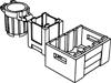 ゴミ箱(#92926)・コンテナ2×2×2(#61780)・アドベンチャーチェスト(#30150)