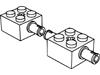 ブリック2×2側面にペグ1個(#6232)・2×2側面にペグ2個(#30000)