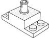 ブリック2×2(上部にペグ1個・プレート有)