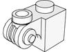 ブリック1×1装飾渦巻き付(#20310)