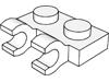プレート1×2水平クリップ2個付(#60470)