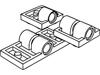 プレート2×2下部にペグ穴付1個(#10247)・2×2下部にペグ穴付2個(#2817)・2×4下部にペグ穴付2個(#26599)