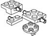 プレート1×2小径軸ホルダー付・2×2小径軸ホルダー付・2×2ホイールホルダー