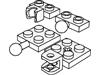 プレート2×2牽引ボール付・2×2牽引ボール受口付・1×2牽引ボール付・1×2牽引ボール受口付