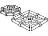 プレート2×2八角形バー(#75937)・四角形バー(#30094)