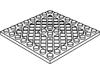 プレート8×8斜め格子・中央ペグ穴有(#4151b)