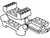 プレート1×4マフラー付(#61072)・2×2グリル(41862)・1×2レーサーカーグリル(#50949)