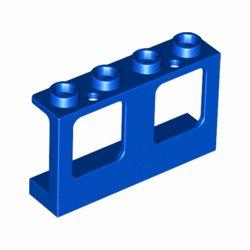 小窓1×4×2ガラス穴付 ブルー