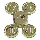 硬貨(10, 20, 30, 40) クロムゴールド