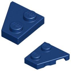 ウェッジプレート2×2右・2×2左(ペア) ダークブルー