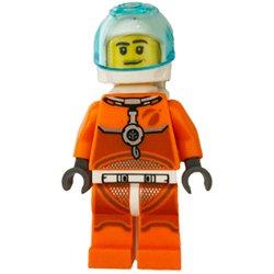 宇宙飛行士の男性-オレンジスペーススーツ(#60225)