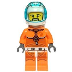 宇宙飛行士の男性-オレンジスペーススーツ(#60226)