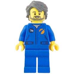 宇宙飛行士の男性-ブルージャンプスーツ(#60227)