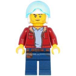 ヘリコプターパイロットの男性(#60266)