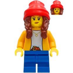 ブライトライトオレンジのジャケットの女の子(#60291)