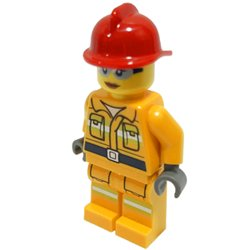 消防士の女性(オリジナル限定ミニフィグ)