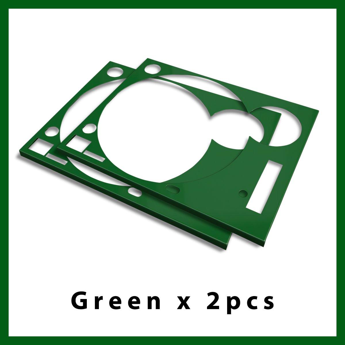 * ターンテーブル カバー (Faceplate)*  グリーン  2枚組 (for Technics SL-1200 MK3D・MK5・MK6)