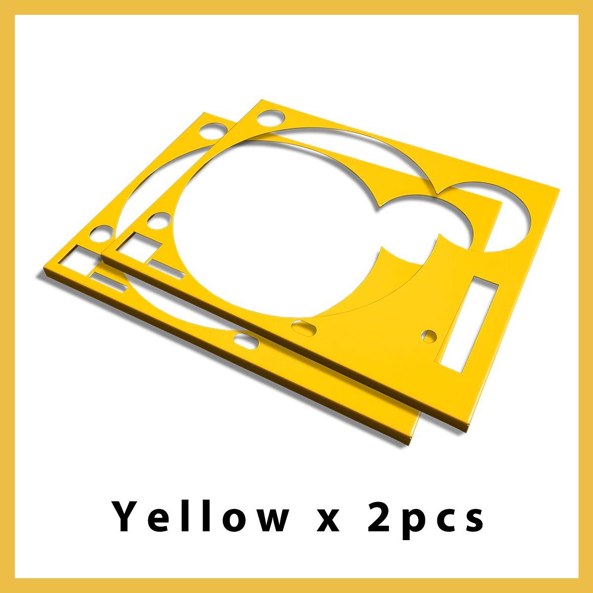 * ターンテーブル カバー (Faceplate)*  イエロー  2枚組 (for Technics SL-1200 MK3D・MK5・MK6)