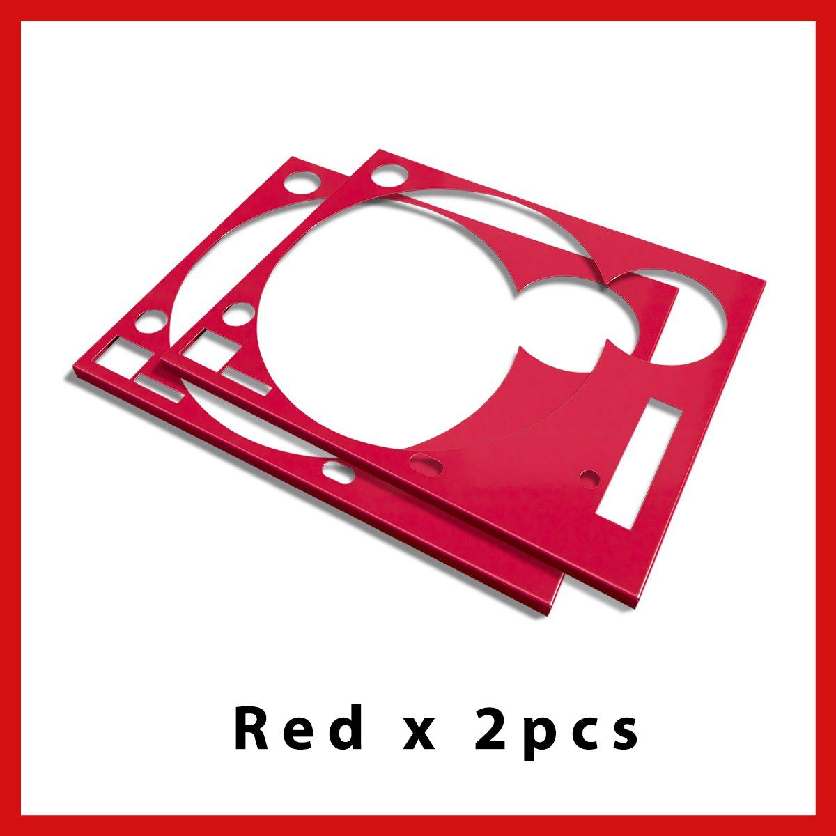 * ターンテーブル カバー (Faceplate)* レッド  2枚組 (for Technics SL-1200 MK3D・MK5・MK6)