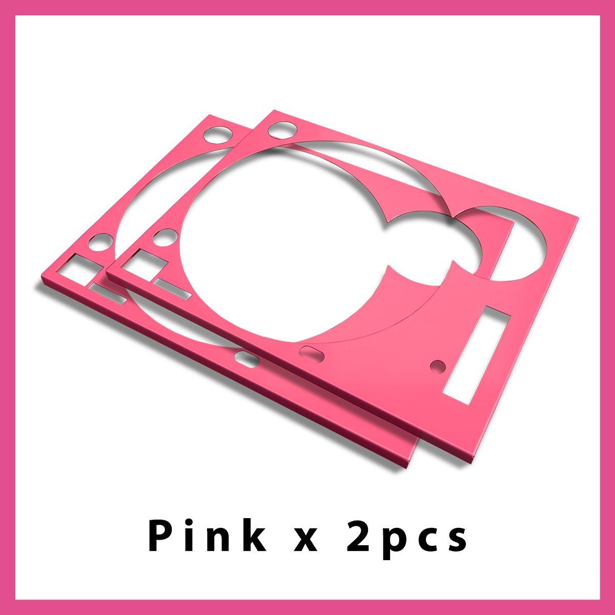 * ターンテーブル カバー (Faceplate)*  《限定》ピンク 2枚組 (for Technics SL-1200 MK3D・MK5・MK6)