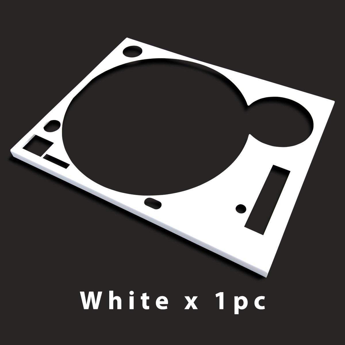 * ターンテーブル カバー (Faceplate)*  ホワイト  1枚 (for Technics SL-1200 MK3D・MK5・MK6)