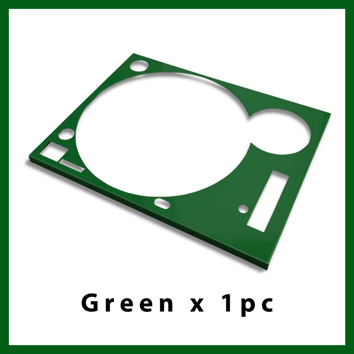* ターンテーブル カバー (Faceplate)*  グリーン  1枚 (for Technics SL-1200 MK3D・MK5・MK6)