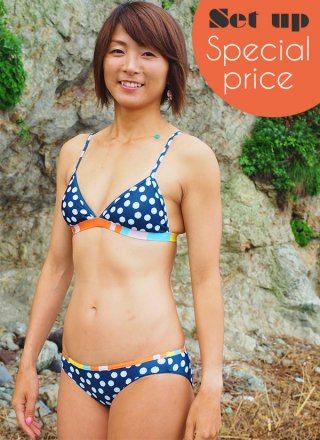DotLove Freedom Bikini Set-Navy Tile