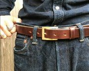 GZ-UKSLB U.K.Saddle Leather Belt チョコ