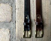 GZ-UKSLB U.K.Saddle Leather Belt BIG チョコ