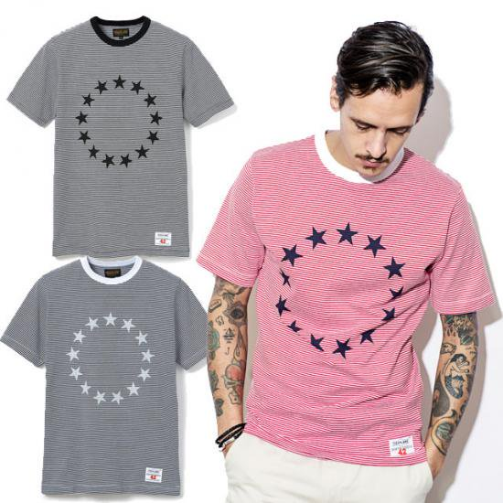 <img class='new_mark_img1' src='https://img.shop-pro.jp/img/new/icons16.gif' style='border:none;display:inline;margin:0px;padding:0px;width:auto;' />TOYPLANE 13 STARS S/S STRIPE TEE