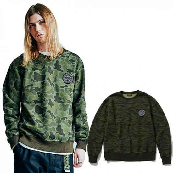 <img class='new_mark_img1' src='//img.shop-pro.jp/img/new/icons50.gif' style='border:none;display:inline;margin:0px;padding:0px;width:auto;' />TOYPLANE Camo crew neck sweat