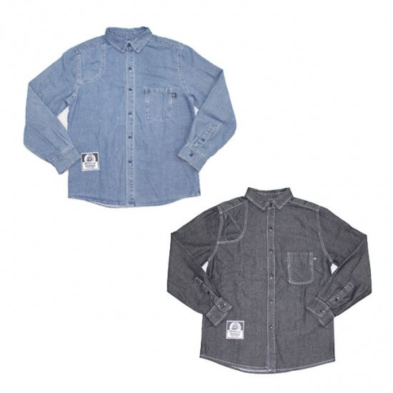 <img class='new_mark_img1' src='//img.shop-pro.jp/img/new/icons12.gif' style='border:none;display:inline;margin:0px;padding:0px;width:auto;' />INTERFACE DENIM SHOULDER PAD SHIRTS